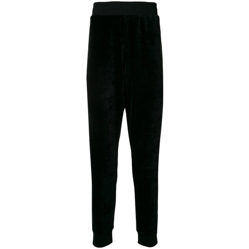 MOSCHINO Slouched Track Pants, Black-OZNICO