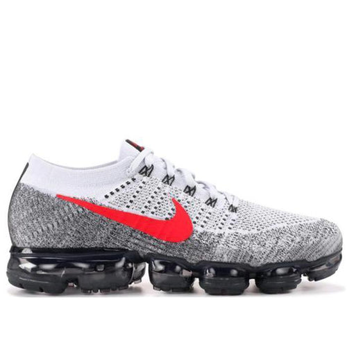 NIKE Air Vapormax Flyknit, Pure Platinum/University Red-OZNICO
