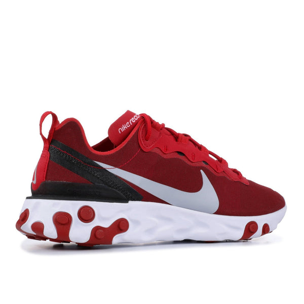 NIKE React Element 55, Gym Red/ Wolf Grey-OZNICO