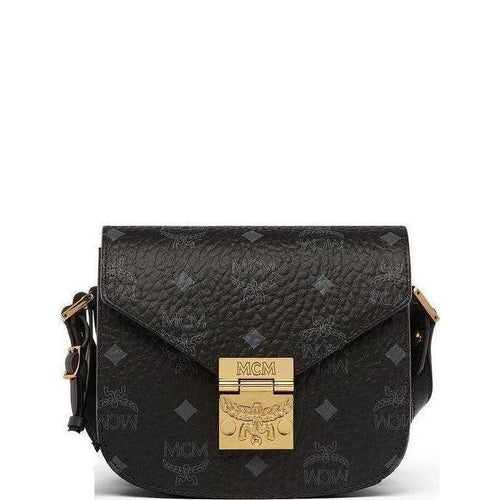 Patricia Shoulder Bag In Visetos, Black-OZNICO
