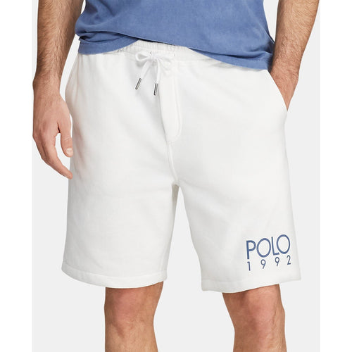 POLO RALPH LAUREN 1992 Fleece Shorts, White-OZNICO
