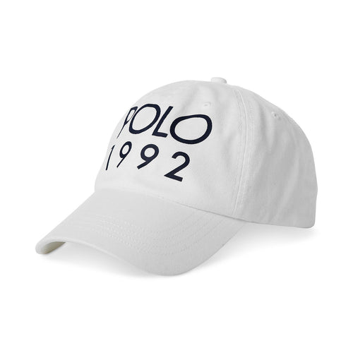 POLO RALPH LAUREN 1992 Twill Sports Cap, White-OZNICO