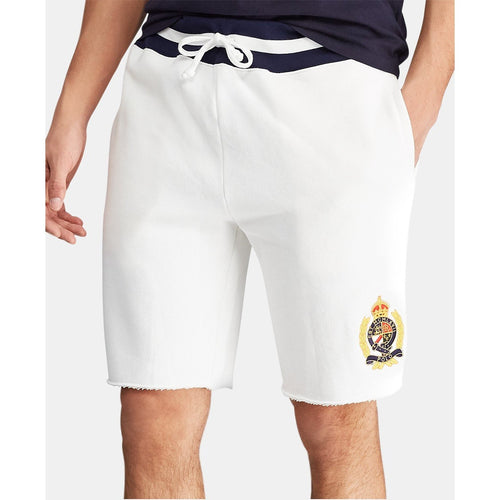 "POLO RALPH LAUREN 9.5"" Fleece Shorts, White-OZNICO"
