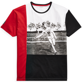 POLO RALPH LAUREN Active Fit Javelin Graphic Tee, White-OZNICO