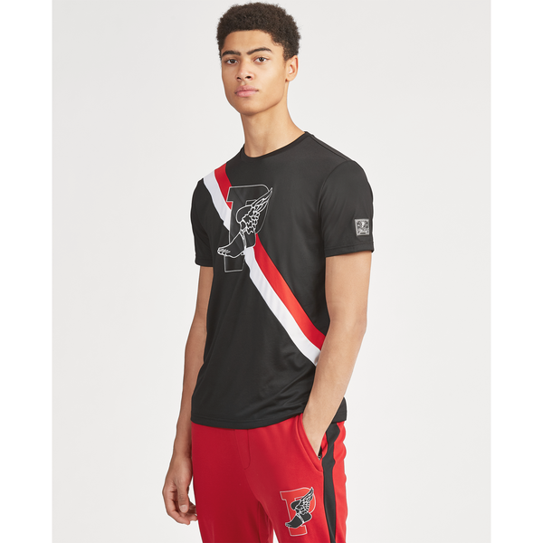 POLO RALPH LAUREN Active Fit P-Wing Graphic T-Shirt, Black-OZNICO