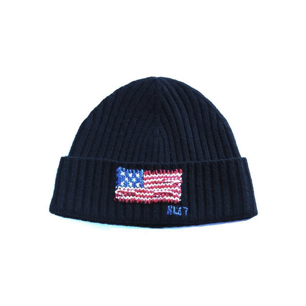 POLO RALPH LAUREN American Flag Cuff Hat, Navy-OZNICO