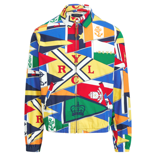 POLO RALPH LAUREN Bayport Graphic Windbreaker, RLYC Burgee Flag-OZNICO