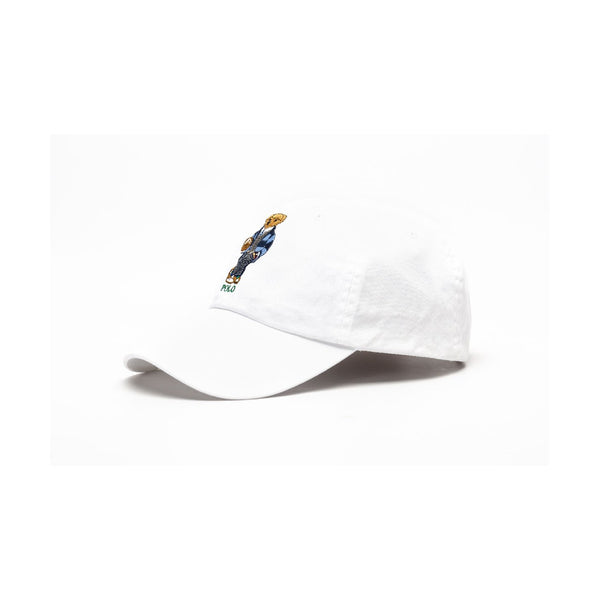 POLO RALPH LAUREN Polo Bear Cotton Chino Cap, White