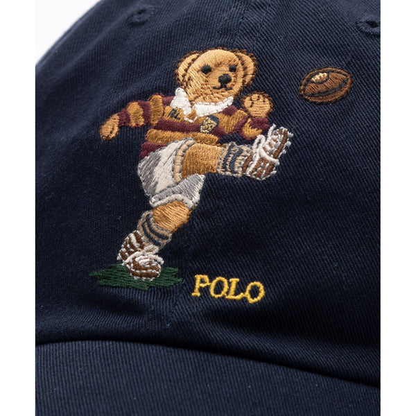 POLO RALPH LAUREN Polo Bear Cotton Chino Cap, Navy