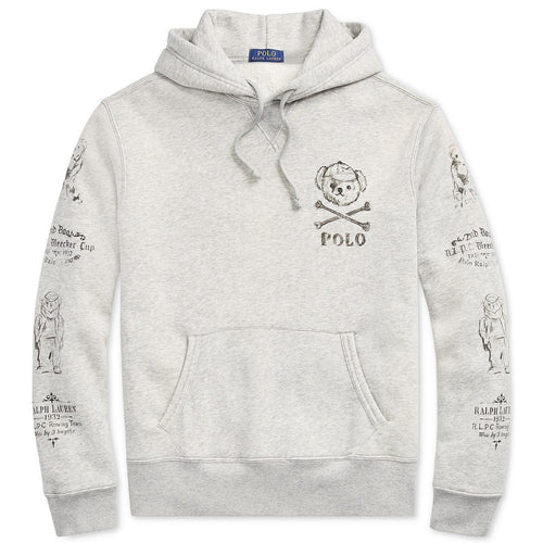 POLO RALPH LAUREN Bear Fleece Hoodie, Grey-OZNICO