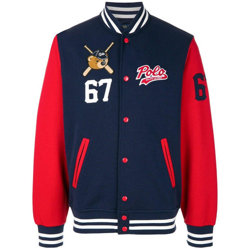 POLO RALPH LAUREN Bears Bomber Jacket, Navy-OZNICO