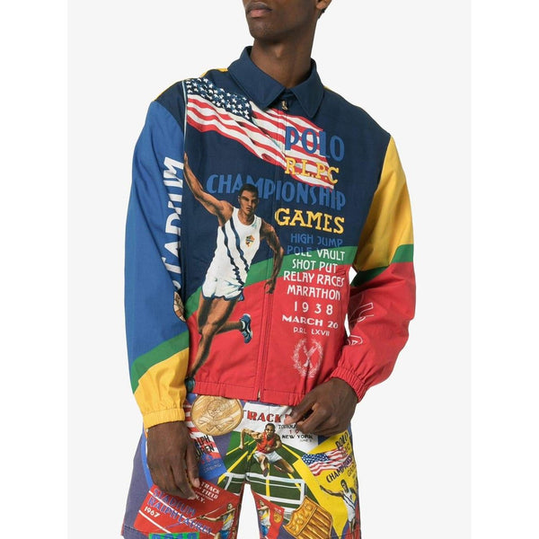 POLO RALPH LAUREN Championship Games Graphic Print Jacket, Multi-OZNICO