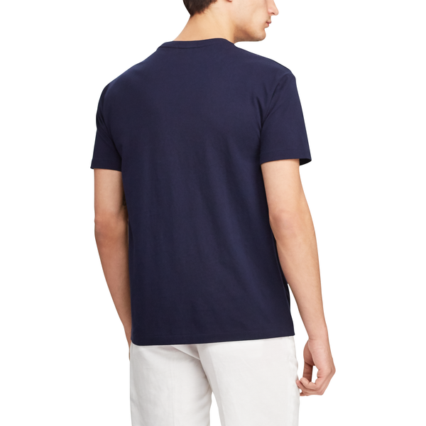 POLO RALPH LAUREN Classic Fit Captain Bear Tee, Cruise Navy-OZNICO