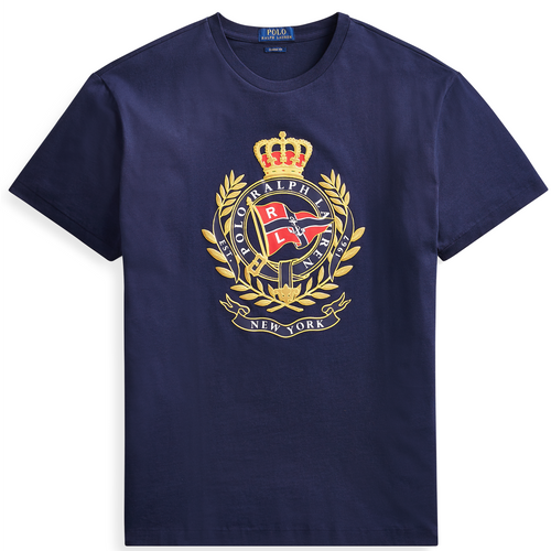 POLO RALPH LAUREN Classic Fit Cotton Graphic Tee, Navy-OZNICO