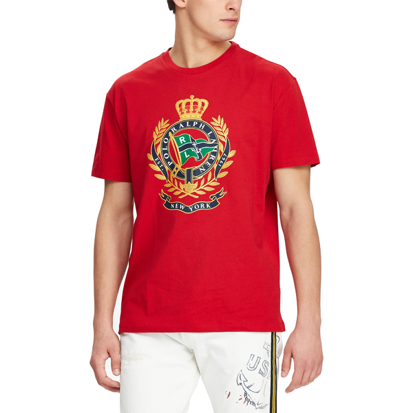 1bf4d511 ... POLO RALPH LAUREN Classic Fit Cotton Graphic Tee, Red-OZNICO ...