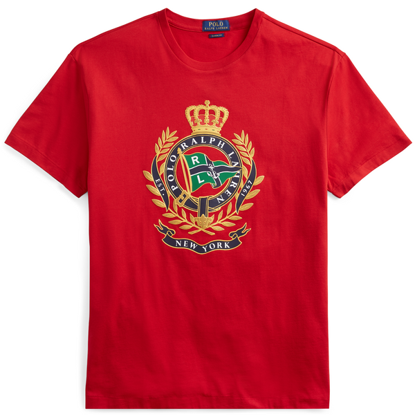 38426a3c POLO RALPH LAUREN Classic Fit Cotton Graphic Tee, Red-OZNICO ...