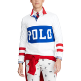 POLO RALPH LAUREN Classic Fit Cotton Rugby Shirt, White/ Multi-OZNICO