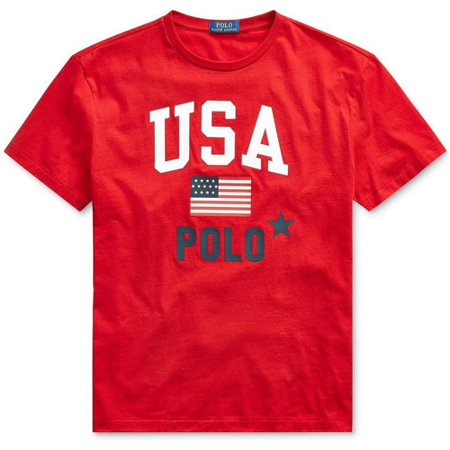 POLO RALPH LAUREN Classic-Fit Graphic Americana T-Shirt, Red-OZNICO