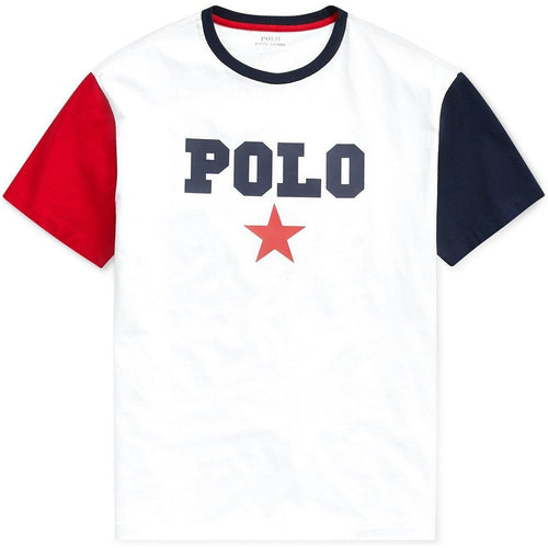 POLO RALPH LAUREN Classic Fit Graphic Americana T-Shirt, White-OZNICO