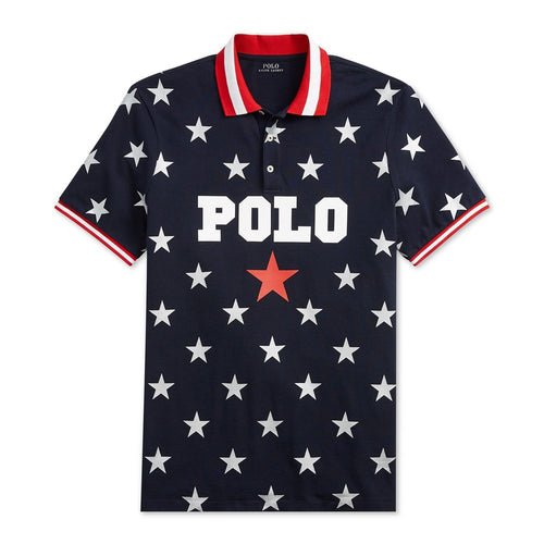 POLO RALPH LAUREN Classic Fit Mesh Americana Polo, Aviator Navy-OZNICO