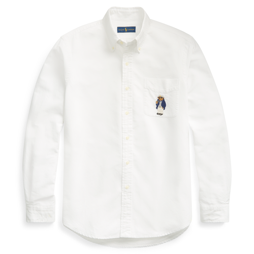 POLO RALPH LAUREN Classic-Fit Polo Bear Oxford Shirt, Newport Bear-OZNICO