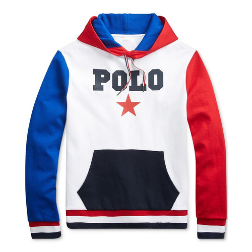 POLO RALPH LAUREN Color Block Americana Hoodie, White Multi-OZNICO