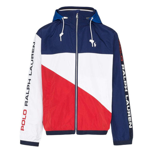 POLO RALPH LAUREN Color-Block Logo Print Windbreaker, Multi-OZNICO