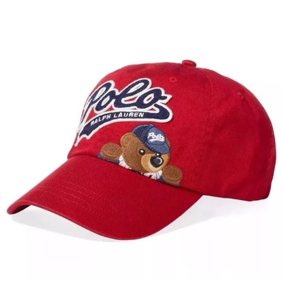 c0ebe8f5 POLO Ralph Lauren Cotton Bear Cap, Ralph Red – OZNICO