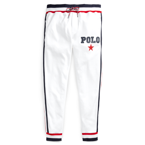 POLO RALPH LAUREN Cotton Interlock Pant, White-OZNICO