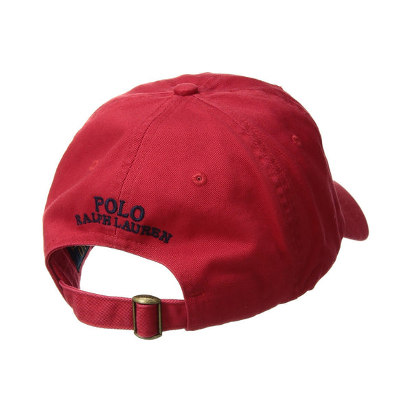 7bf68541d ... POLO RALPH LAUREN CP-93 Cotton Chino Cap, Red-OZNICO