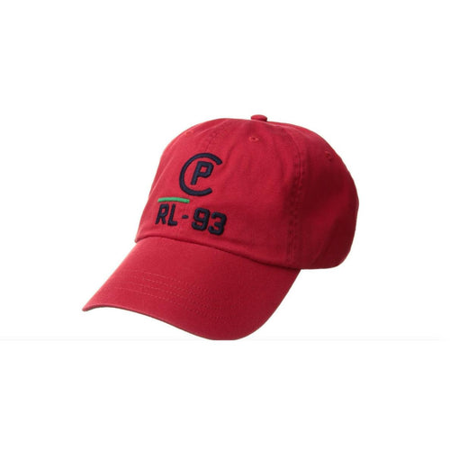 POLO RALPH LAUREN CP-93 Cotton Chino Cap, Red-OZNICO