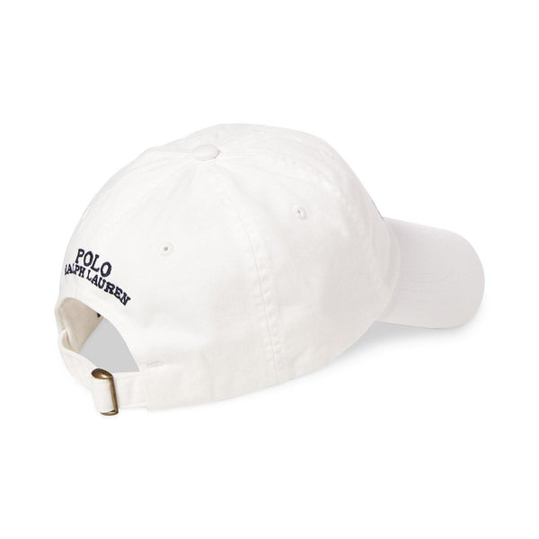 POLO RALPH LAUREN CP-93 Cotton Chino Cap, White-OZNICO