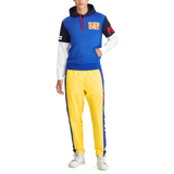 POLO RALPH LAUREN CP-93 Double-Knit Hoodie, Blue-OZNICO