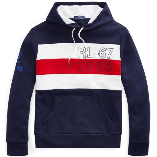 POLO RALPH LAUREN CP-93 Double-Knit Hoodie, Navy-OZNICO