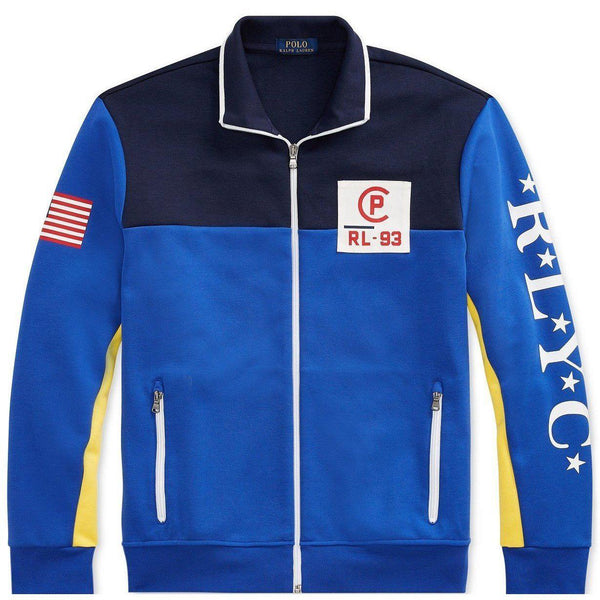 POLO RALPH LAUREN CP-93 Double-Knit Track Jacket, Cruise Royal Multi-OZNICO