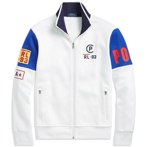 POLO RALPH LAUREN CP-93 Double-Knit Track Jacket, White-OZNICO