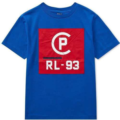 POLO RALPH LAUREN CP-93 Logo Graphic T-Shirt, Cruise Royal-OZNICO