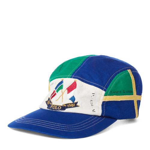 POLO RALPH LAUREN Cross Flags Cotton Cap, RLYC Burgee Flag-OZNICO