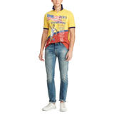 POLO RALPH LAUREN Custom Slim Fit Mesh Polo, Canary Yellow/ Multi-OZNICO
