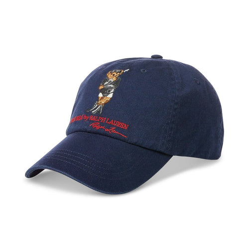 POLO RALPH LAUREN Dive Bear Cotton Chino Cap, Navy-OZNICO