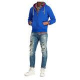 POLO RALPH LAUREN Double-Knit Full-Zip Hoodie, Rugby Royal-OZNICO