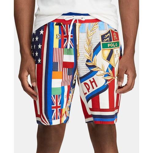 POLO RALPH LAUREN Double-Knit Graphic Chariots Shorts, Multi-OZNICO