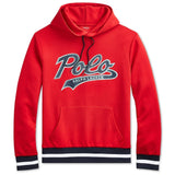 POLO RALPH LAUREN Double-Knit Graphic Hoodie, Red-OZNICO