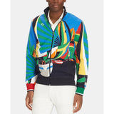 POLO RALPH LAUREN Double-Knit Nautical Track Jacket, Newport Sailing Scarf-OZNICO