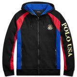 POLO RALPH LAUREN Downhill Skier Double-Knit Hoodie, Black-OZNICO