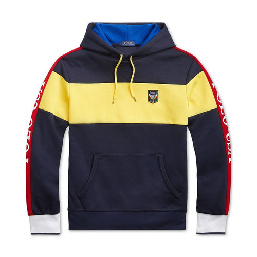 POLO RALPH LAUREN Downhill Skier Double-Knit Hoodie, Navy/ Multi-OZNICO