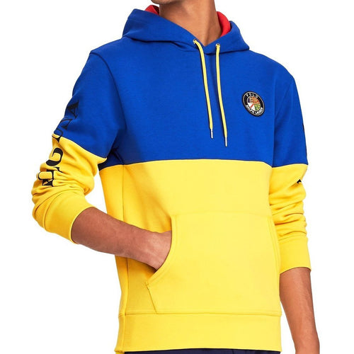 POLO RALPH LAUREN Downhill Skier Double-Knit Hoodie, Yellow-OZNICO