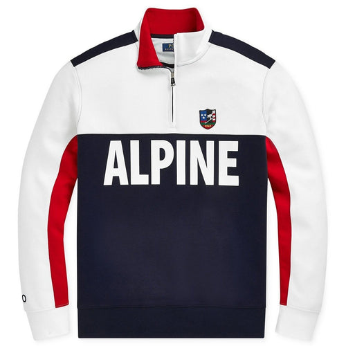 POLO RALPH LAUREN Downhill Skier Double-Knit Pullover, White-OZNICO
