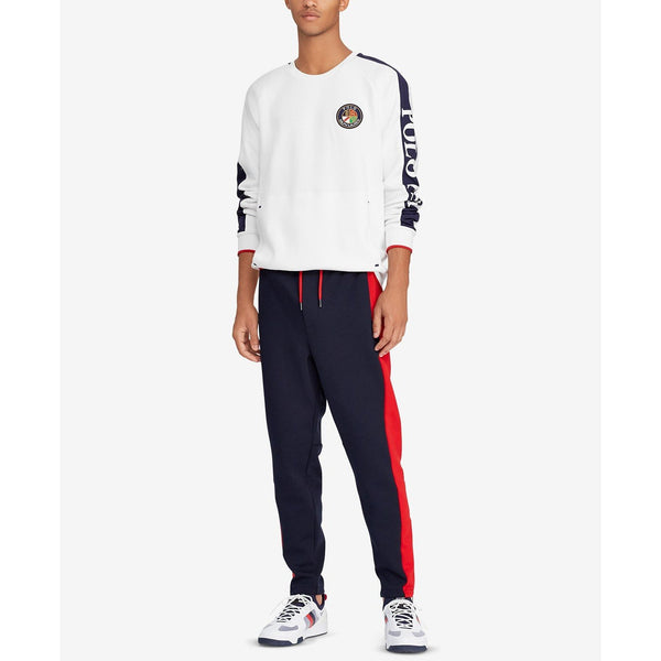 POLO RALPH LAUREN Downhill Skier Double-Knit Sweatshirt, White-OZNICO