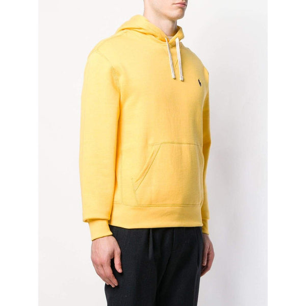 POLO RALPH LAUREN Embroidered Logo Hoodie, Yellow-OZNICO